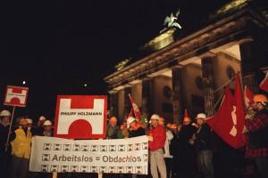 Demonstration am Brandenburger Tor. Foto: Marco Urban